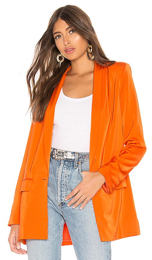 L'Academie The Fleur Blazer in Orange. - size XS (also in M,S)