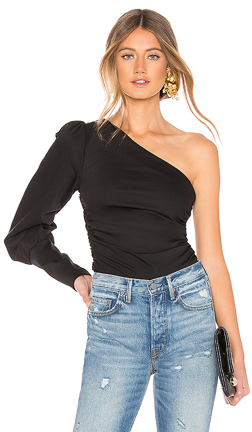 L'Academie The Feline Top in Black. - size M (also in S,XXS,XS,L,XL)