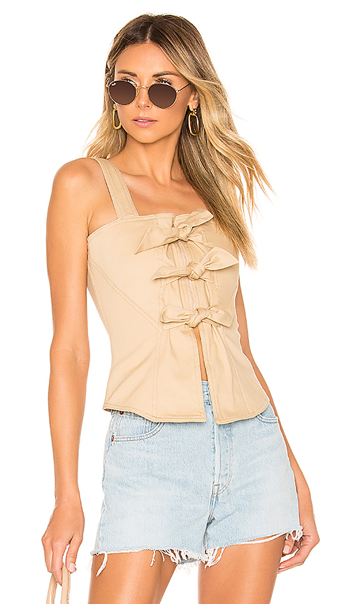 L'Academie The Lana Top in Nude. - size XXS (also in XS,S,M,L,XL)