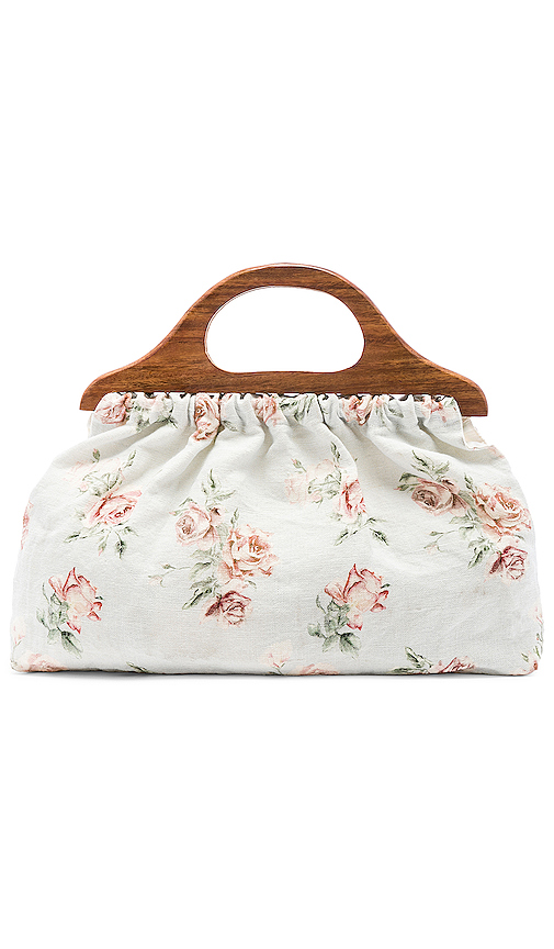 LoveShackFancy Mckenna Bag in White.