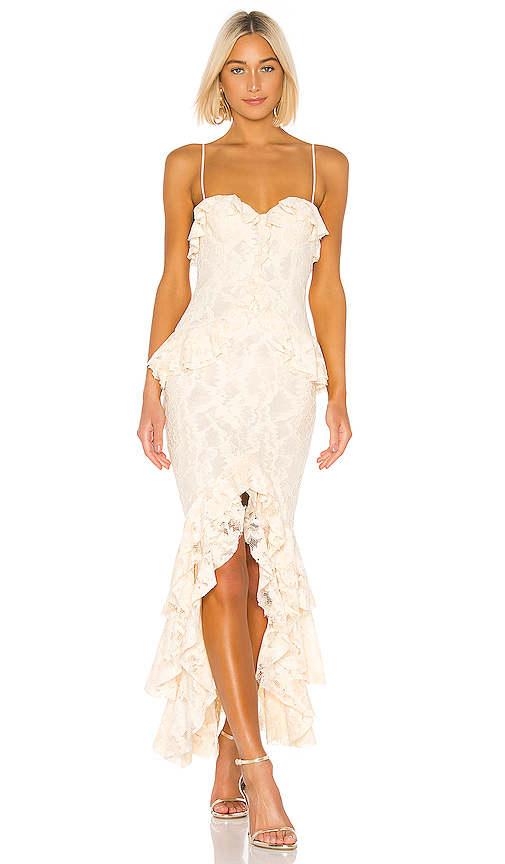 Lovers + Friends Melissa Gown in Cream. - size XS (also in XXS,S,M,L,XL)