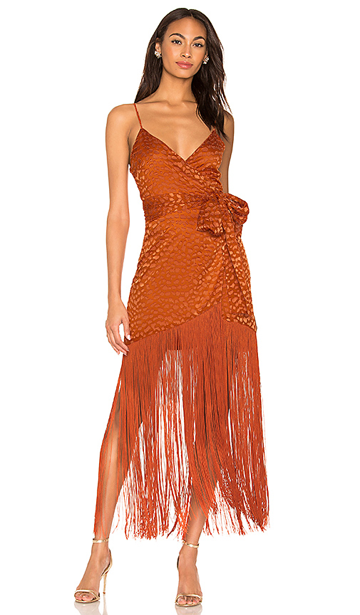 LPA Orelia Dress in Burnt Orange. - size XS (also in XXS,S,M,L,XL)