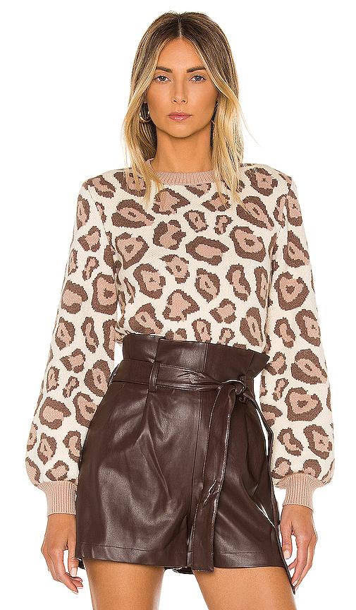 MAJORELLE Leandra Sweater in Tan. - size M (also in L,S,XS)