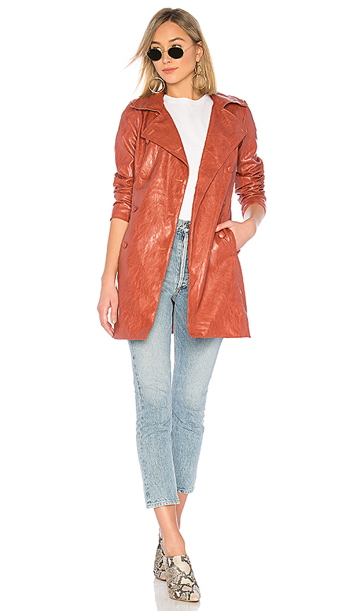 MAJORELLE Melinda Coat in Rust. - size XS (also in S)