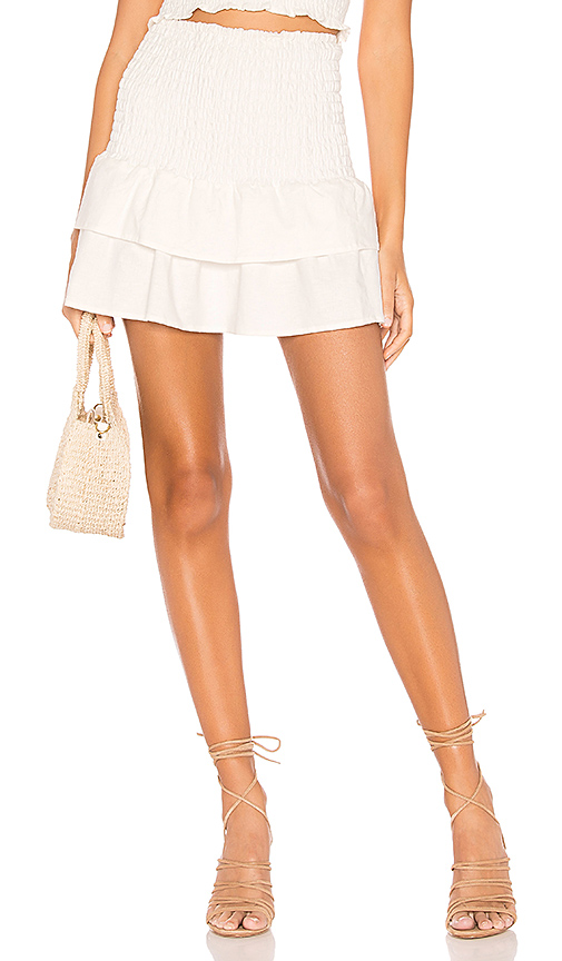 MAJORELLE Peaches Skirt in White. - size S (also in L,M)
