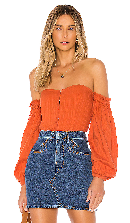 MAJORELLE Betsey Top in Orange. - size S (also in XXS,XS,M,L,XL)