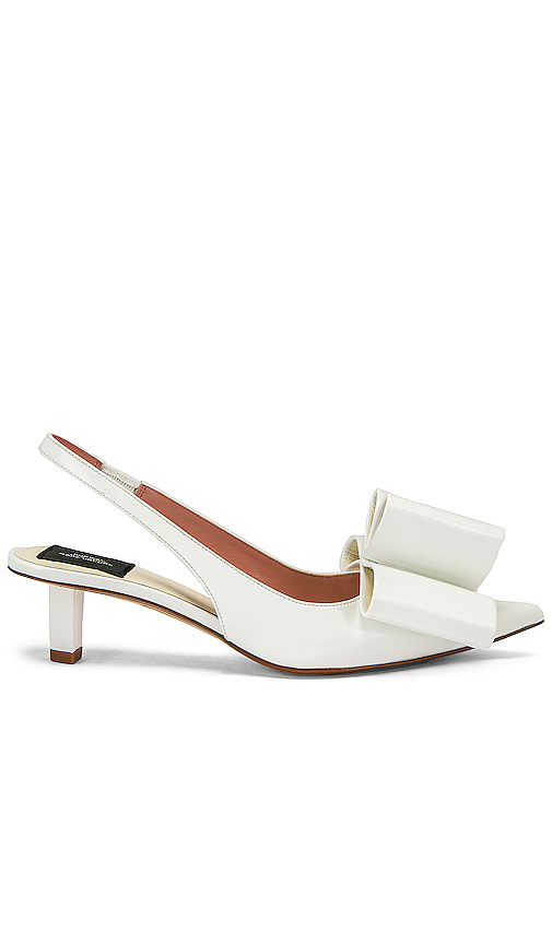Marc Jacobs Bow Slingback Pump in White. - size 38 (also in 36.5,37.5)