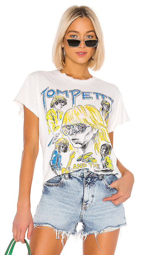 Madeworn Tom Petty And The Heartbreakers Tee in White. - size XS (also in S,M,L)