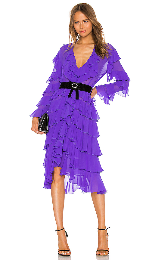 MARIANNA SENCHINA Ruffle Dress in Purple. - size XS (also in S,L)