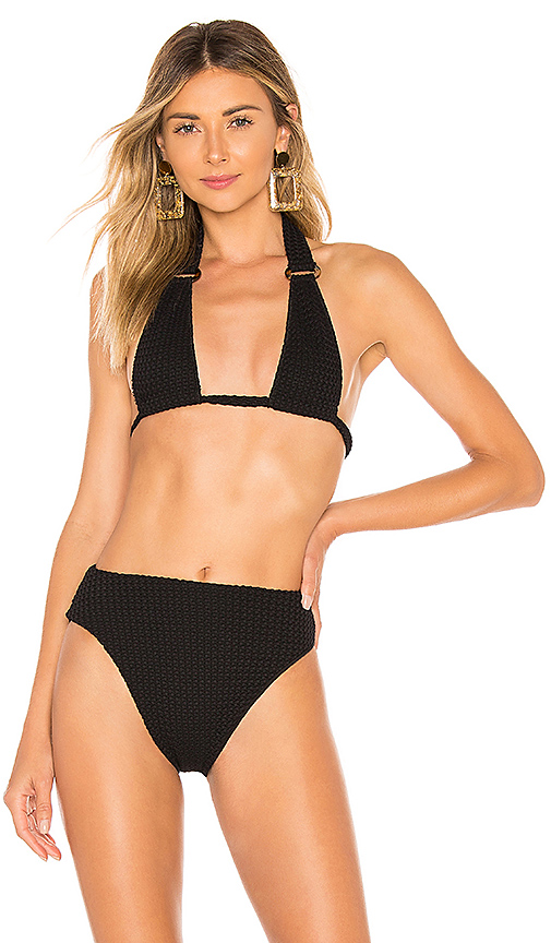 Montce Swim Lani Bikini Top in Black. - size M (also in S,XS,L)