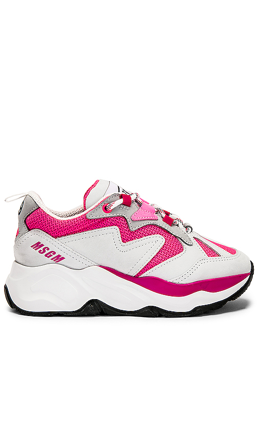 MSGM Attack Sneaker in Pink. - size 38 (also in 35,36,37,39)