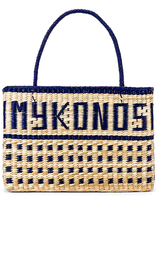 Nannacay Mykonos Tote in Blue.