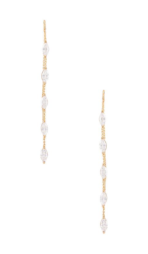 Natalie B Jewelry Cassia Threaders in Metallic Gold.
