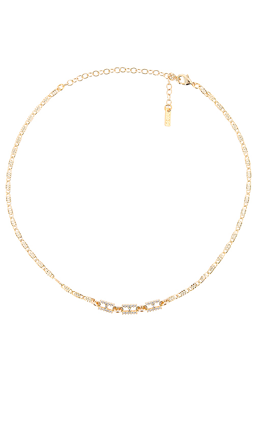 Natalie B Jewelry Hermez Choker in Metallic Gold.
