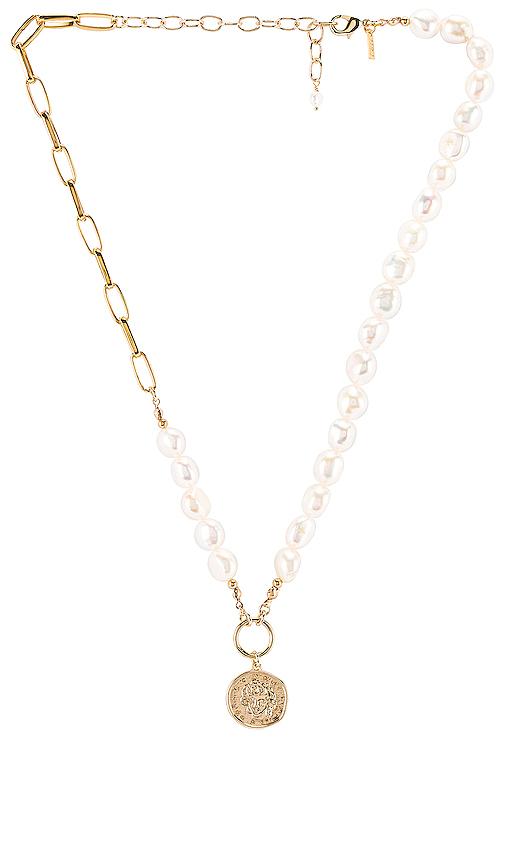 Natalie B Jewelry St. Tropez Necklace in Metallic Gold.