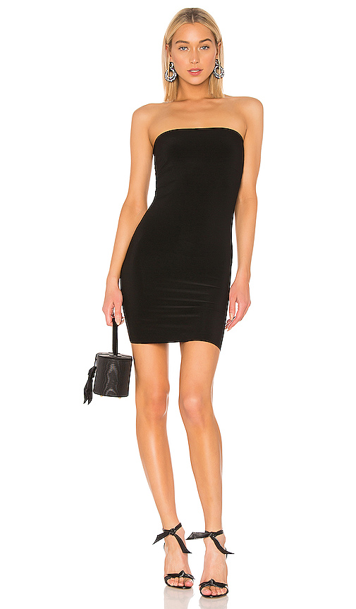 Norma Kamali Tube Mini Dress in Black. - size XS (also in S,M,L)