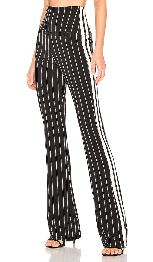 Norma Kamali Side Stripe Boot Pant in Black. - size L (also in XS,S,M)