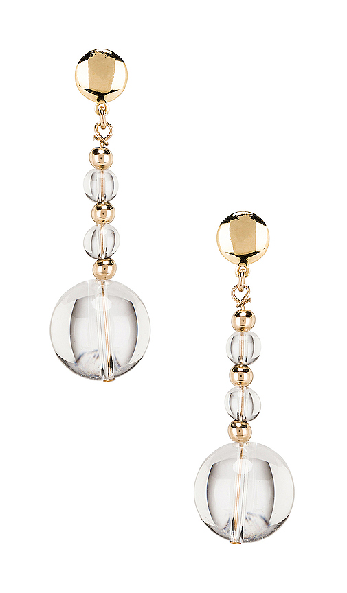 Paradigm Vial Earrings in Metallic Gold.