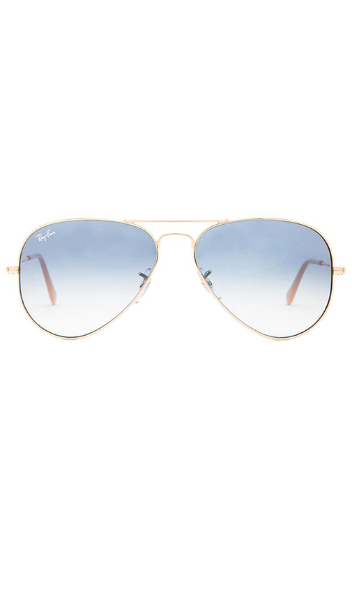 Ray-Ban Aviator in Metallic Gold.