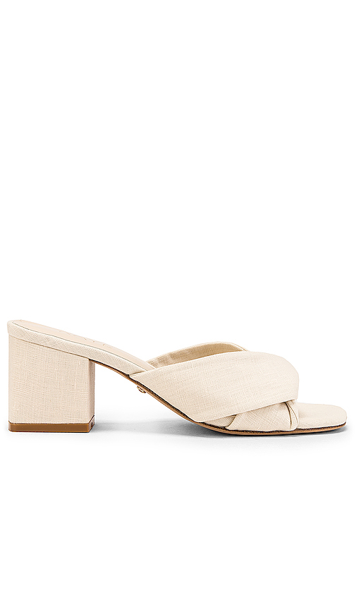 RAYE Tabby Heel in White. - size 9 (also in 5.5,6,6.5,7,7.5,8,8.5,9.5,10)