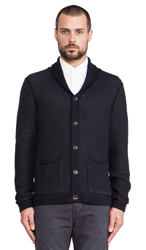 rag & bone Avery Shawl Cardigan in Navy