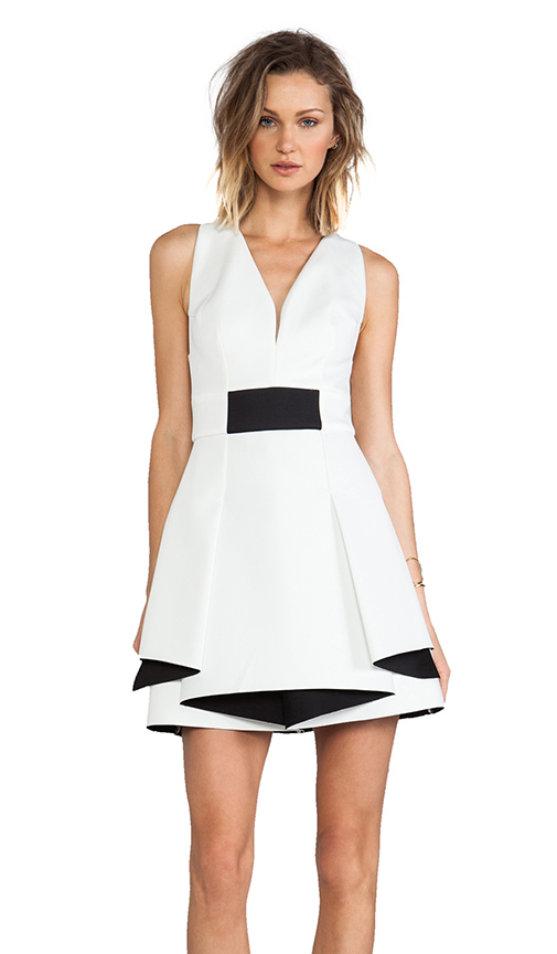 Robert Rodriguez monochrome dress