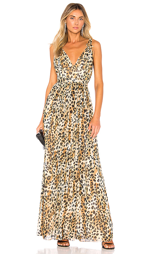 Ronny Kobo Sallee Gown in Brown. - size L (also in S,XS,M)