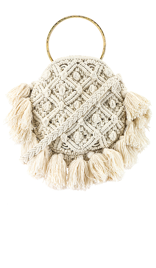 Show Me Your Mumu X Cleobella Francesca Crochet Bag in White.