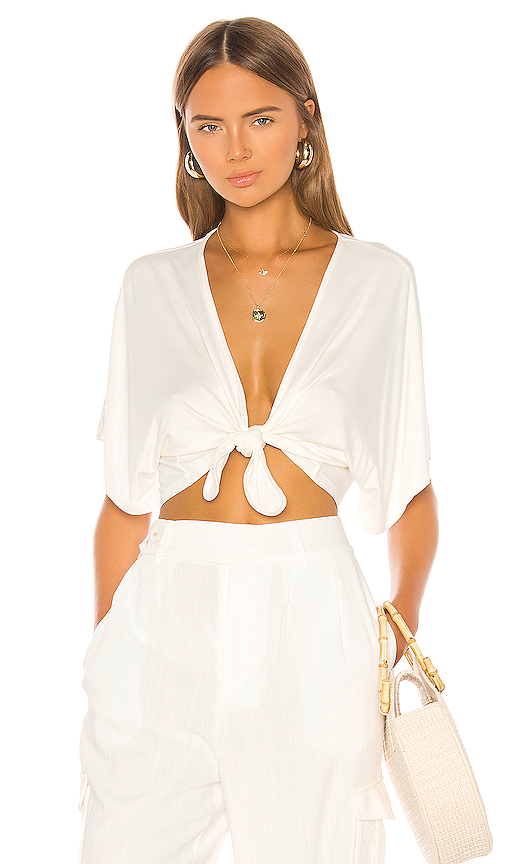 Shaycation x REVOLVE Callie Tee in White. - size XL (also in XS,S,M,L)