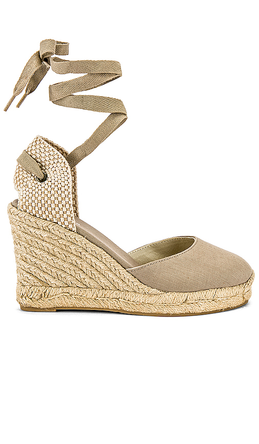 Soludos Mallorca Wedge Espadrille in Taupe. - size 8 (also in 6,5.5,6.5,7,7.5,8.5,9,9.5,10)
