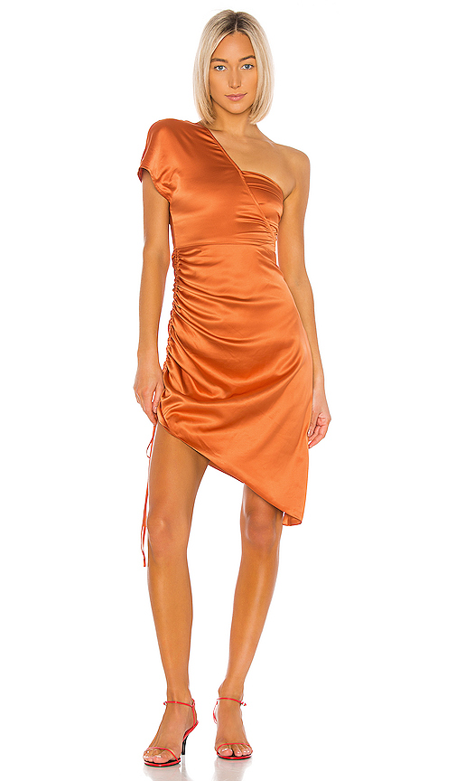 Song of Style Graham Midi Dress in Orange. - size XL (also in L,XXL)
