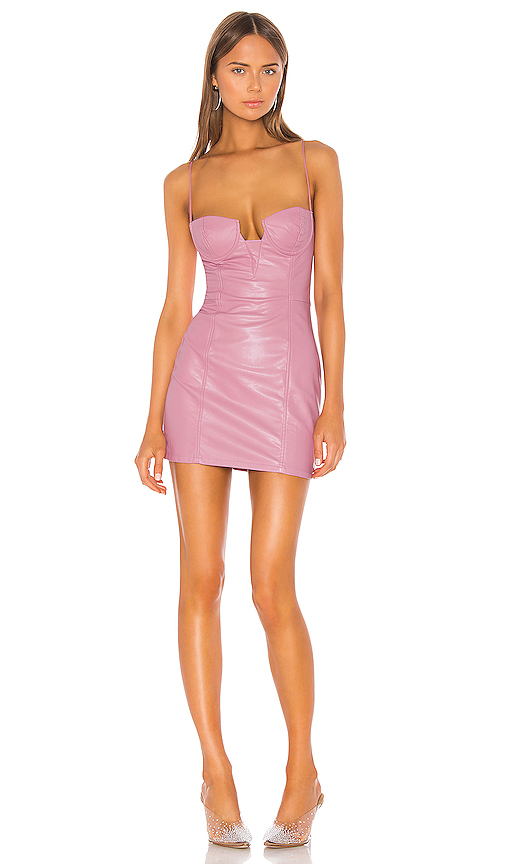 superdown Jimena Bustier Mini Dress in Purple. - size XS (also in XXS,S,M,L,XL)