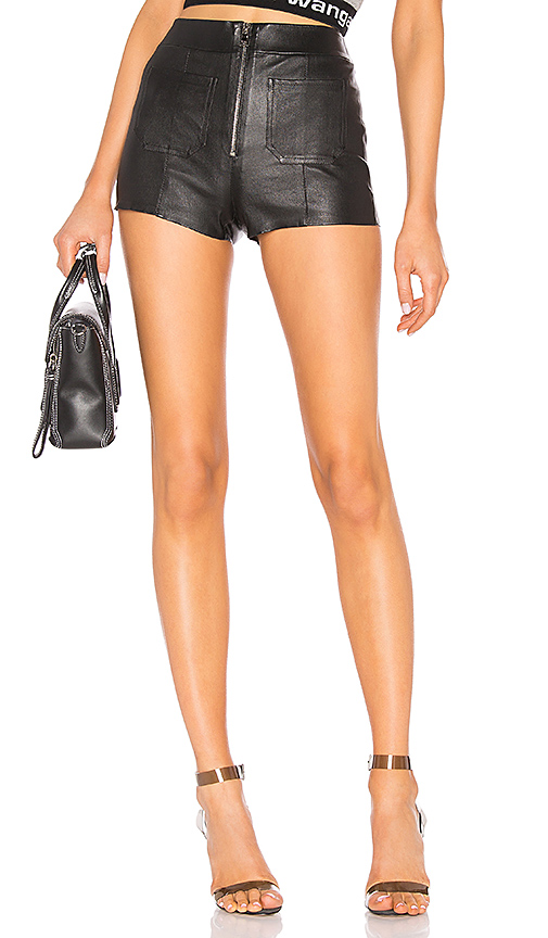 SPRWMN Leather Hot Pants in Black. - size S (also in L,M,XS)
