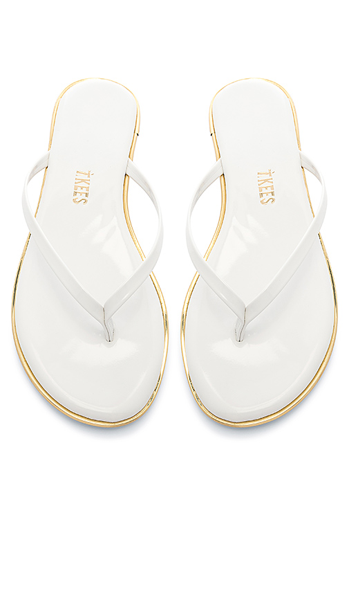 TKEES Studio Sandal in White. - size 5 (also in 6,7,8,9,10)