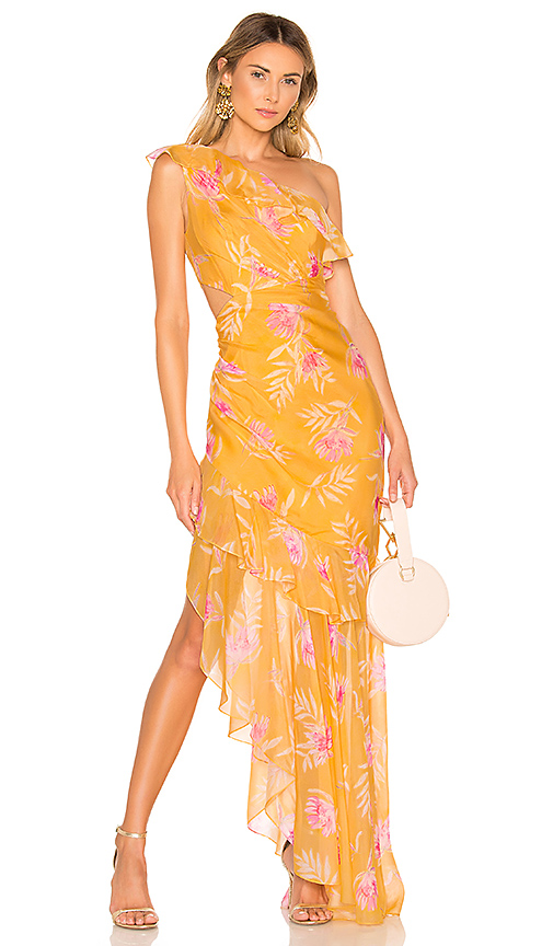 AMUR Vi Gown in Yellow. - size 0 (also in 2)