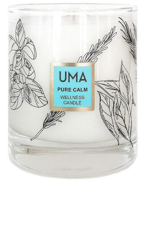 UMA Pure Calm Wellness Candle in White.