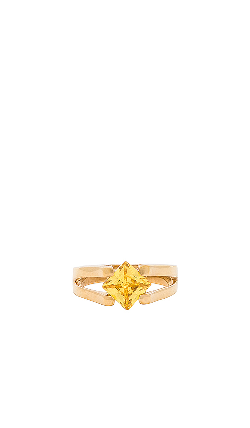 Vanessa Mooney The Chateaux Ring in Metallic Gold. - size 8 (also in 6,7)