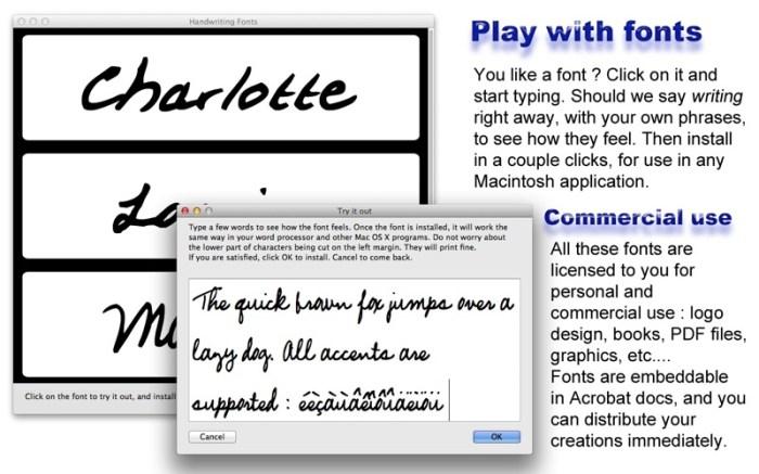 Handwriting Fonts Screenshot 02 131ea5n