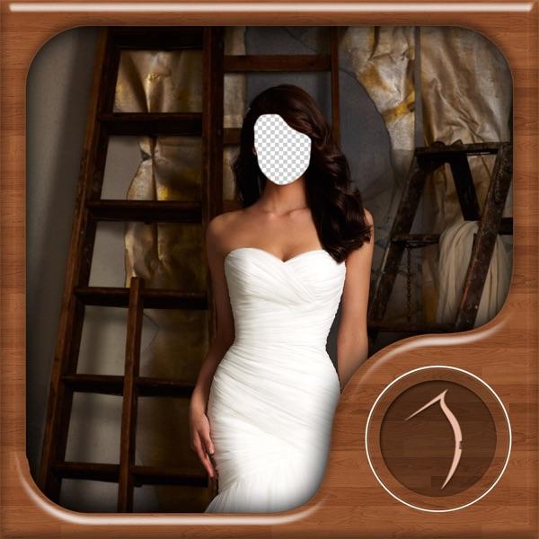 Bridal Dress Photo Montage