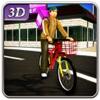 自転車ペストリー配達&都市バイクライダーシムアイコン
