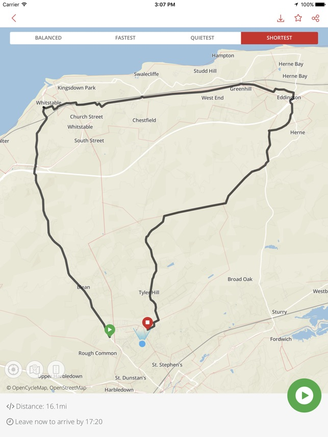 Bike Hub Cycle Journey planner Screenshot