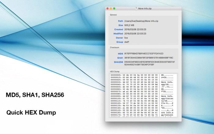More Info - File Checksums Screenshot 03 x36bkn