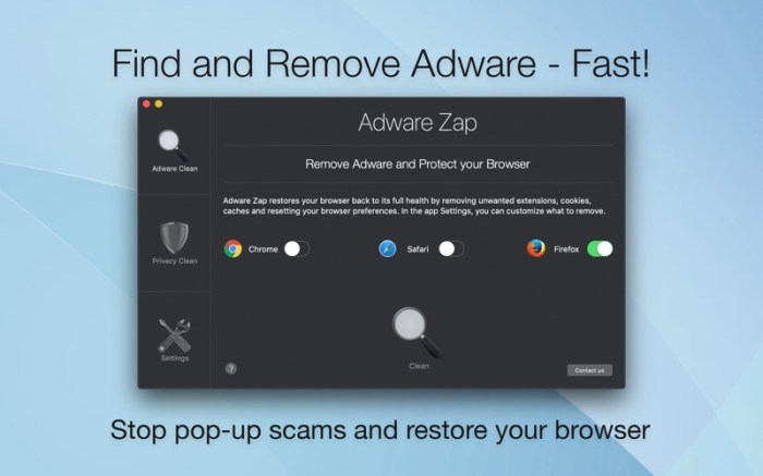 Adware Zap Browser Cleaner Screenshot 01 57xz2an