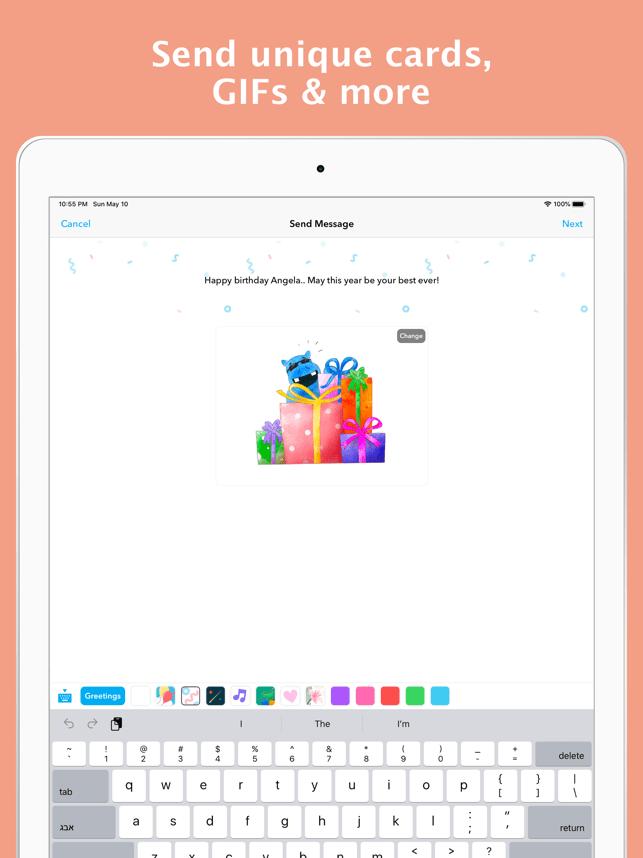 hip: Birthday Reminder App Screenshot