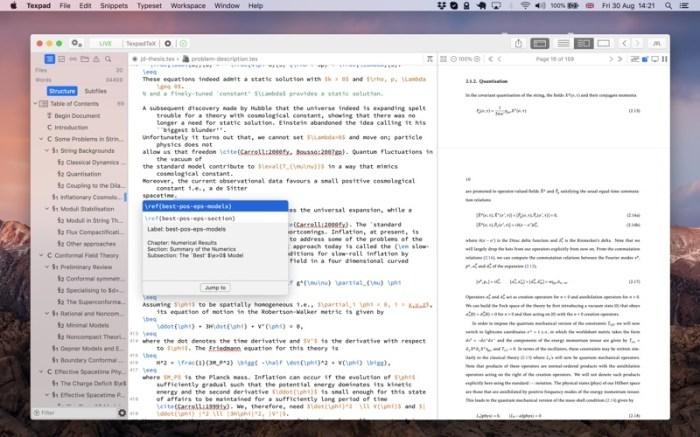 Texpad : LaTeX editor Screenshot 06 f5mxejn