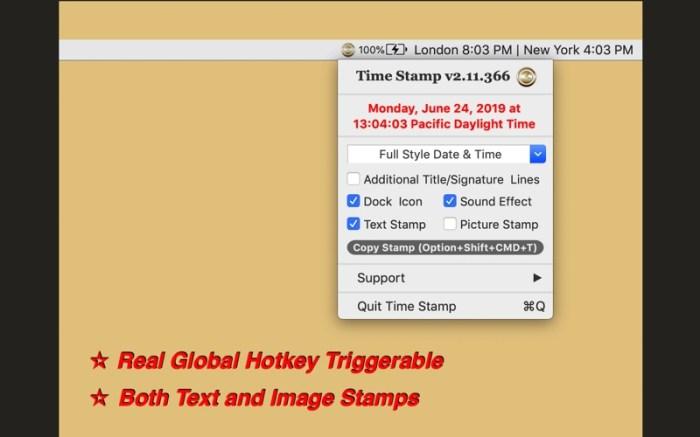 Time Stamp Screenshot 02 cf188mn