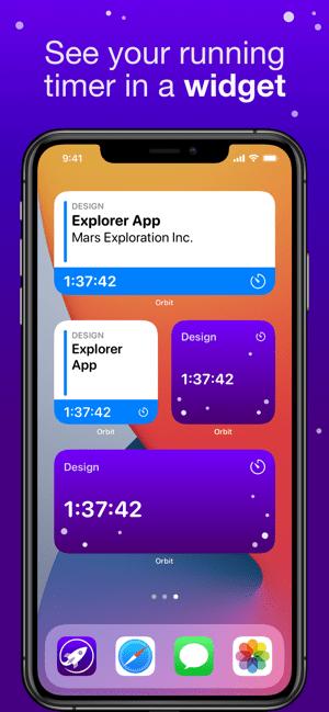 Orbit: Time-based Invoicing Screenshot