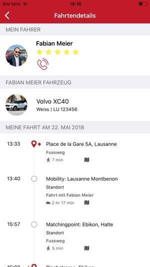 Mobility Carpool Screenshot