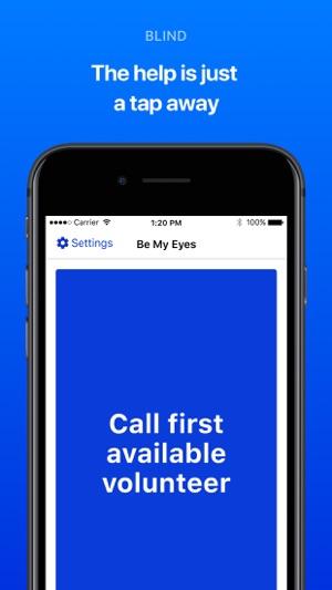 Be My Eyes – Helping blind see Screenshot