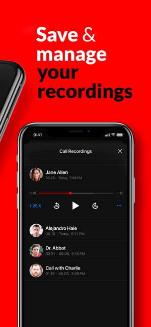 Call Recorder App: RecMyCalls Screenshot
